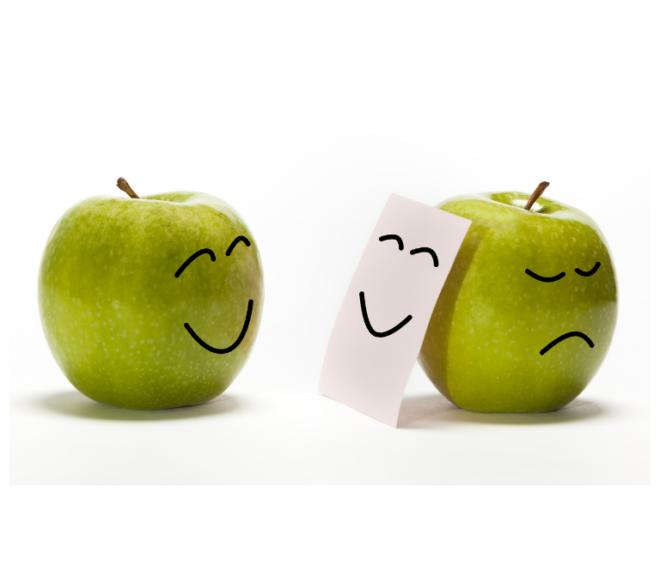 usmev jabko zelene